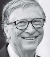Bill Gates, Founder of MicroSoft and philantrophist